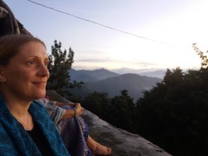 A picture of me at sunrise in the Himalayas