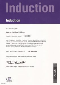 Qualified Teacher Certificate